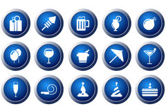 Party and Celebration icons Royalty Free Stock Photo