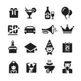 Party and Celebration Icons Royalty Free Stock Photos