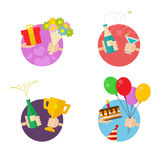 Party and Celebration icons Royalty Free Stock Images