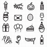 Party Celebration icons Stock Image