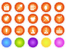 Party and Celebration icons sun series Stock Images