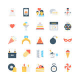 Party and Celebration Vector Icons 5 Royalty Free Stock Photo