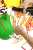 Party with champagne and carnival decoration Stock Image
