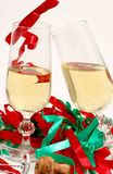 Party and champagne glasses Royalty Free Stock Photos