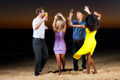 Party with champagne reception at the beach Royalty Free Stock Image