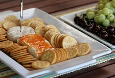 Party Cheese and Fruit Platter Royalty Free Stock Photo