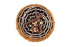 Party chocolate cake, isolated on a white background Royalty Free Stock Image