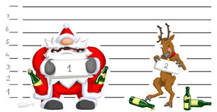 Party Christmas Cartoon, Lineup Royalty Free Stock Photography