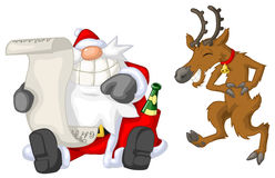 Party Christmas Cartoon, List Royalty Free Stock Images