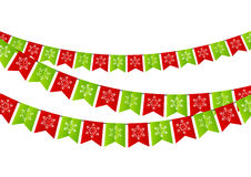 Party Christmas flags Stock Photos