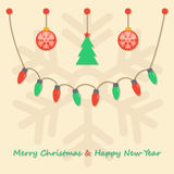 Party christmas light bulbs Stock Images