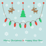 Party christmas light bulbs Royalty Free Stock Images