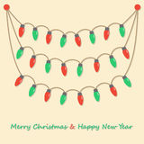Party christmas light bulbs Royalty Free Stock Image