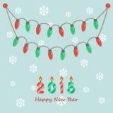 Party christmas light bulbs Stock Photo