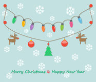 Party christmas light bulbs Royalty Free Stock Photos