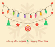 Party christmas light bulbs Royalty Free Stock Photo