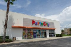 Party City store front angle view royalty free stock photos
