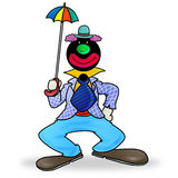 Party clown. Silhouette-man cosplay party clown Stock Photography