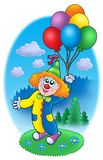 Party clown with balloons Stock Image