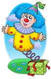 Party clown from box. Color illustration Stock Photos