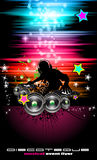 PArty Club Flyer for Music event with Explosion of color Royalty Free Stock Photo