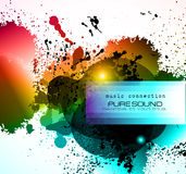 PArty Club Flyer for Music event with Explosion of colors Stock Photography