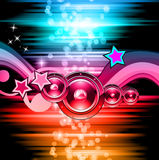 PArty Club Flyer for Music event with Explosion of colors. Stock Images