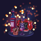 Party cocktail drinks design vector elements Royalty Free Stock Images