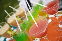 Party cocktail tray Stock Photography