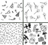 Party collection. Some things for evening-party vector illustration