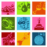 Party color icons Stock Photos