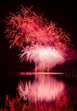 Party with colorful fireworks show Royalty Free Stock Photo