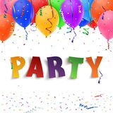 Party. Colorful handmade typeface. Stock Photography