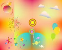Party and colors Stock Photography