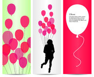 Party Concept And Pink Ballons Royalty Free Stock Photos