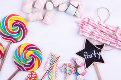 Party concept, party preparation. Items on a white background royalty free stock photography