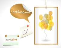 Party concept and yellow ballons Royalty Free Stock Images