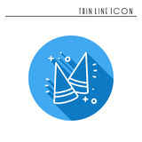 Party cone hats icon. Party celebration birthday holidays event carnival festive. Thin line party basic element icon. Vector simple linear design. Illustration Stock Photos