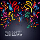 Party Confetti Vector royalty free illustration