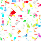 Party Confetti on White Background Stock Photo