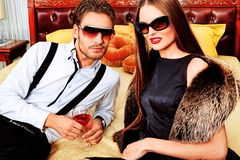 Party couple Royalty Free Stock Photography