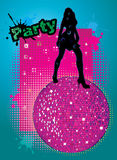 Party cover illustration Stock Photo