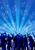 Party Crowd. People having fun at the disco Stock Photography