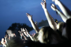 Party crowd. Blurry image of a party crowd at a concert Royalty Free Stock Photos