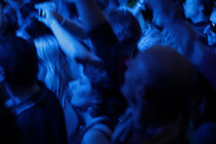 Party crowd. Blurry image of a party crowd at a concert Royalty Free Stock Images