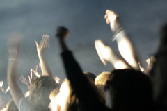 Party crowd. Blurry image of a party crowd at a concert Stock Images