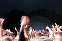 Party crowd. Blurry image of a party crowd at a concert Royalty Free Stock Photo