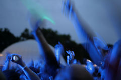 Party crowd. Blurry image of a party crowd at a concert Royalty Free Stock Image