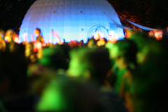 Party crowd. Blurry image of a party crowd at a concert Stock Photography