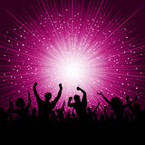 Party crowd background vector illustration